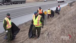 Highway of Heroes spring cleanup