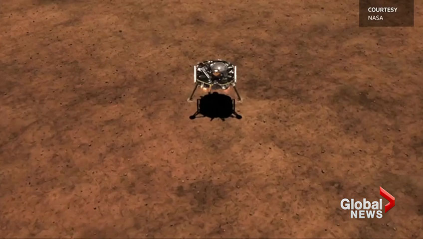 NASA's InSight lander to make perilous maneuver to touch down on Mars