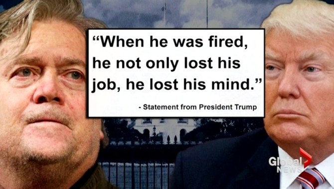 Image result for steve bannon trump lost his mind