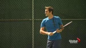 Roger Federer celebrates birthday at Rogers Cup