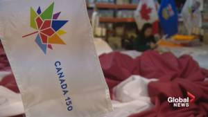 Calgarians help Canadians 'fly the flag' for Canada 150
