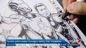 Toronto artist creates 'Avengers: Infinity War' Installation