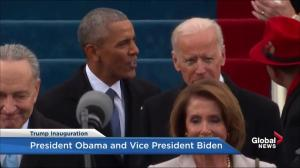 Trump inauguration: President Barack Obama and VP Biden arrive