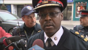 Toronto Police Chief Mark Saunders reacts to recent crime wave