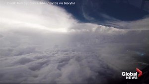 Hurricane hunters capture impressive view From inside Hurricane Florence