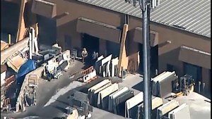 Aftermath aerial video of workplace shooting in Maryland