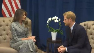 Prince Harry and Melania Trump meet in Toronto