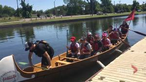 Canadian Canoe Museum offering 90 minute voyageur canoe paddle (00:55)
