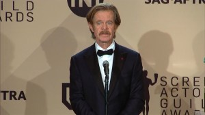 """It's hard to be a man these days,"" says William H. Macy at SAG awards"