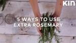 5 ways to use your extra rosemary