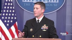 White House physician says he has daily interactions with president