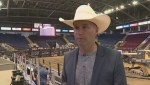Zane Lambert one of 30 professional bull riders competing at the Okanagan PBR Challenge in Kelowna
