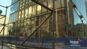Falling glass causes issues for small business in downtown Calgary