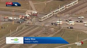 CTrain collision in southeast Calgary Monday