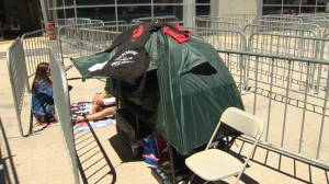 Longtime Raptors fans set up camp outside Jurassic Park days before Game 5
