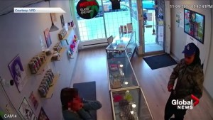 Police release video of violent East Vancouver pot shop robbery