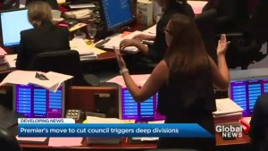 Wild end to Toronto city council meeting ahead of proposed ward changes
