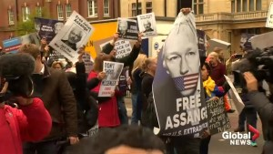 Assange supporters block road in London after extradition hearing