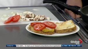 Stump Kitchen making breakfast sandwiches on Global Edmonton (2/3)
