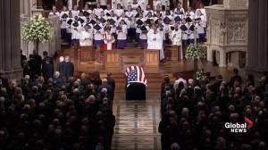 John McCain funeral: Senator's casket brought into Washington National Cathedral