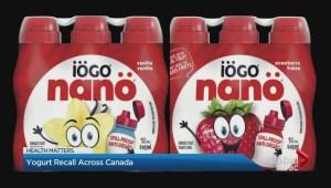 Yoghurt recall in Canada