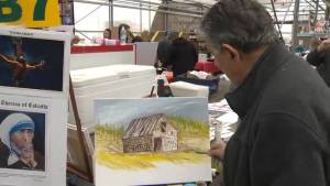 Saint John artist paints for charity (02:10)