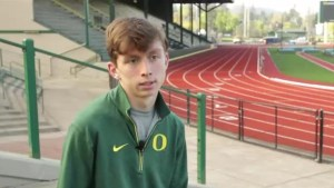Runner with cerebral palsy signs historic Nike contract