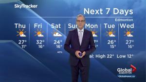 Global Edmonton weather forecast: July 4, 2018
