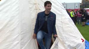 PM Trudeau visits First Nations protest teepee on Parliament Hill