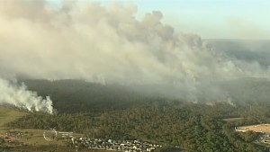 Emergency warning issued as out-of-control bushfire rages across Sydney
