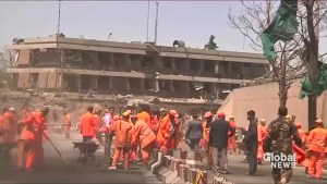 Newly built German embassy destroyed in massive Afghan bombing