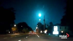 Green fireball lights up sky over Florida