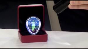 Westport resident shows off Canada Mint coin that features his art
