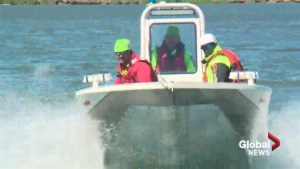 Lethbridge Fire and Emergency Services test boat-handling skills for water rescue team