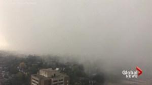 Storm swiftly rolls into Toronto