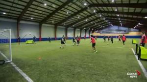 Kick it out! Paul checks out HFX Wanderers FC Training Camp