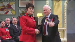 RCMP Constable Michelle Bergeron receives Medal of Bravery for her actions during Ottawa shooting