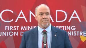 B.C. premier reacts to excise tax on marijuana
