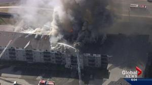 Investigation underway after massive Clareview condo blaze