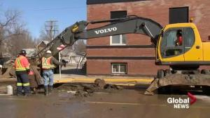 Weyburn water main break shuts down city