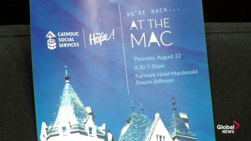 At the Mac fundraiser for Catholic Social Services' Sign of