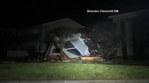 Hurricane Harvey destroys high school in Rockport, Texas