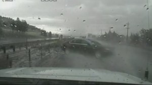 Utah Highway Patrol trooper hit by hydroplaning car receives hero's welcome
