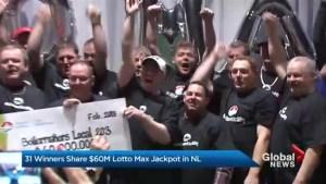 31 winners share $60M Lotto Max jackpot in NL