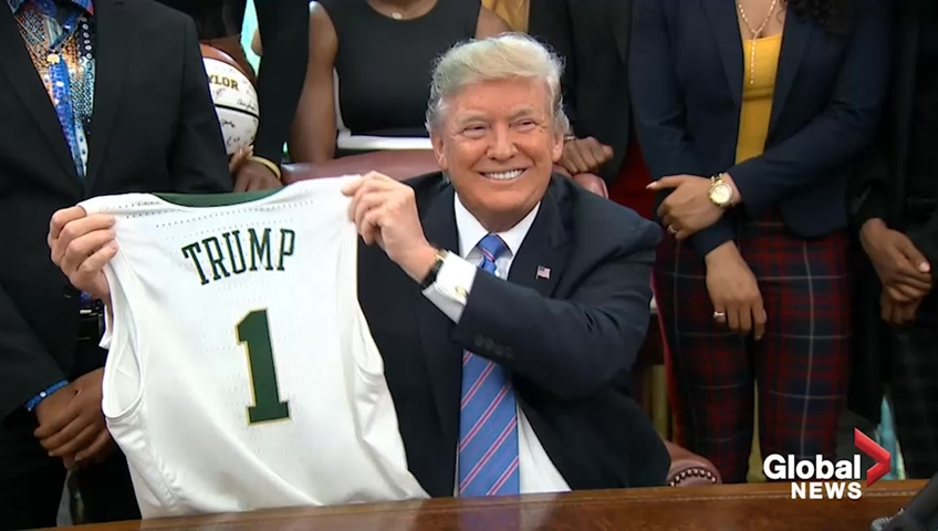 Photos Show What President Trump Is Serving Baylor At The White House