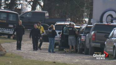 Police execute hours-long stolen property search warrant at