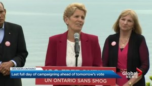 Kathleen Wynne divides spends last day on campaign trail in 416, 905
