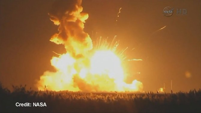 WATCH: NASA's unmanned Antares rocket explodes moments ...