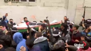 Funeral held for Palestinian man killed during border protests
