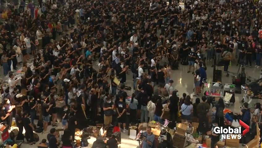 Watch live: Hong Kong airport cancels flights amid continued protests